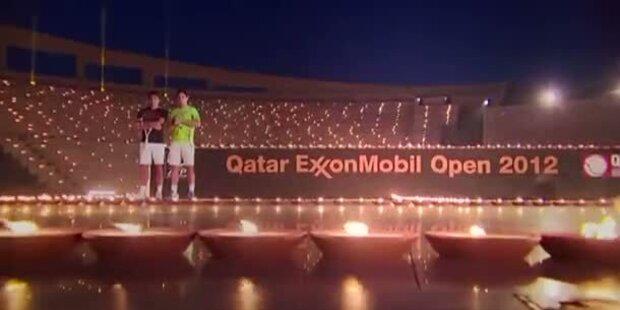 Nadal & Federer: Tennis bei Kerzenschein