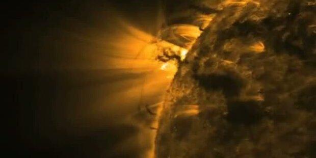 Hier fegt ein Tornado über die Sonne