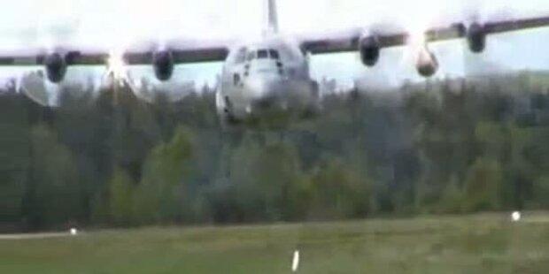 Pilot schrammt 5 Meter über Zuschauer hinweg