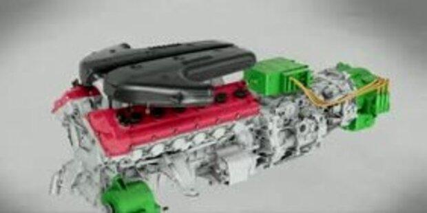 Ferrari zeigt 6,2-Liter-V12 mit HY-KERS
