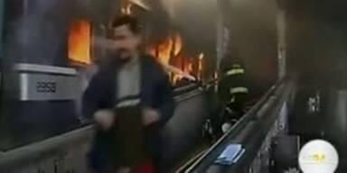 Argentinien:Bahngäste zünden Züge an