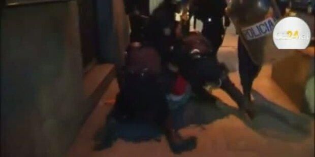 Gewalttätige Krawalle bei Demonstration