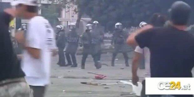 Athen: Demonstranten liefern Strassenschlacht