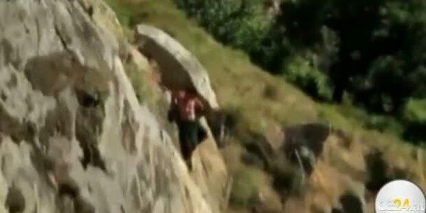 30 Meter Sprung von Klippe schief gegangen