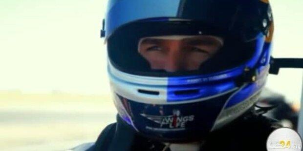 Tom Cruise rast mit Formel 1 Boliden