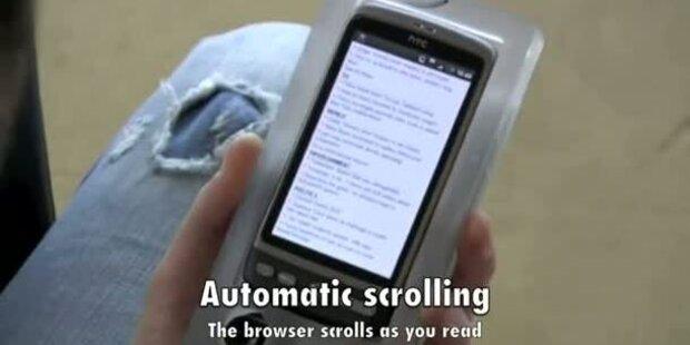 Smartphones mit den Augen steuern