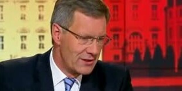 Wulff sagt Rücktritt im TV ab