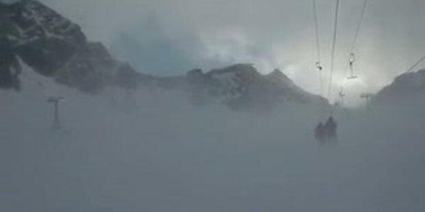 Orkanartige Stürme am Stubaier Gletscher