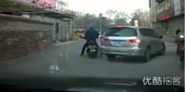 Clevere Gangster: Erst Unfall - dann Diebstahl