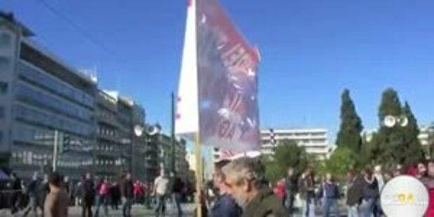 Streik-Chaos und Demos in Griechenland