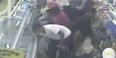 Massenraubüberfall im Supermarkt