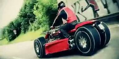 """Irres """"Ferrari-Quad"""" steht zum Verkauf"""