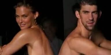 Bar Refaeli und Michael Phelps beim plantschen