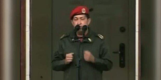 Chavez-Anhänger feiern dessen Rückkehr