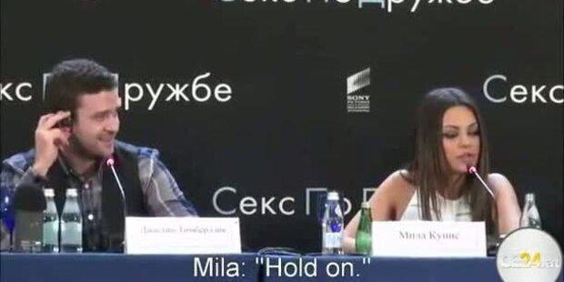 Mila Kunis verteidigt Timberlake auf russisch