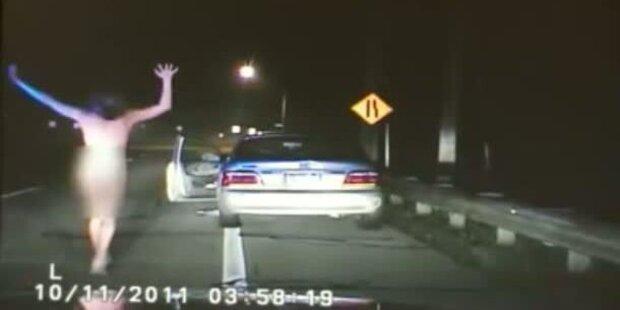 Ohio: Nackte Raserin von Polizei gefasst