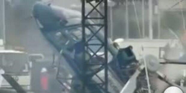 Hubschrauber stürzt live im TV ab
