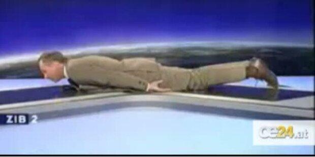 Armin Wolf betreibt planking
