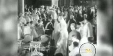 Die Hochzeit von Prinz Rainier 1956