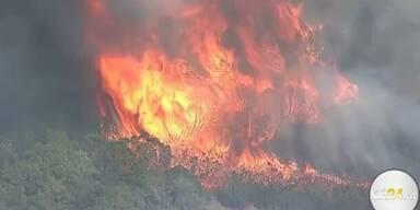 Heftige Waldbrände rund um Oklahoma