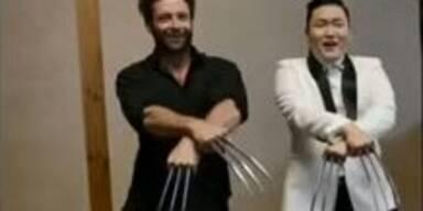 Wolverine Jackman tanzt zu Gangnam Style