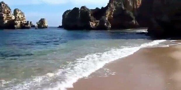 So schön ist der Sandstrand in Portugal