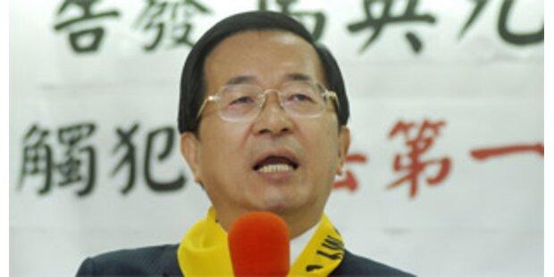 Taiwanesischer Ex-Präsident weiter im Hungerstreik