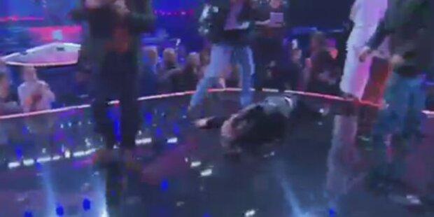 Heinzl zeigt Prügel-Video im TV