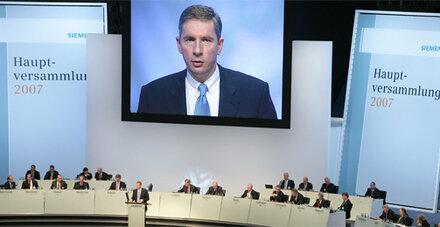 Siemens-Affäre erreicht Konzernspitze