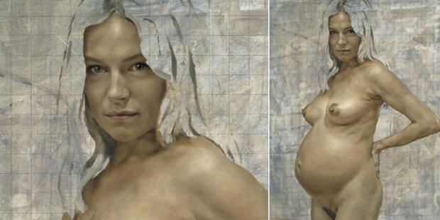 Sienna Miller als schwangere Nackte