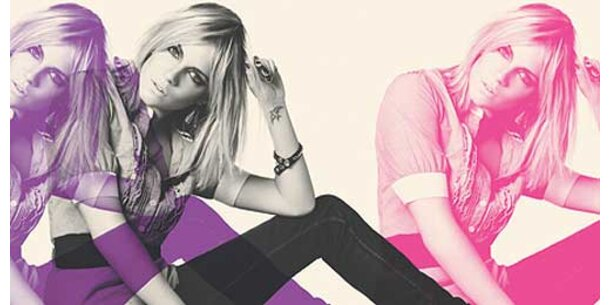 Als Warhol-Muse in Pepe Jeans-Kampagne