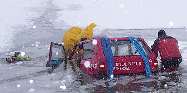 Räumfahrzeug versank im Silbersee