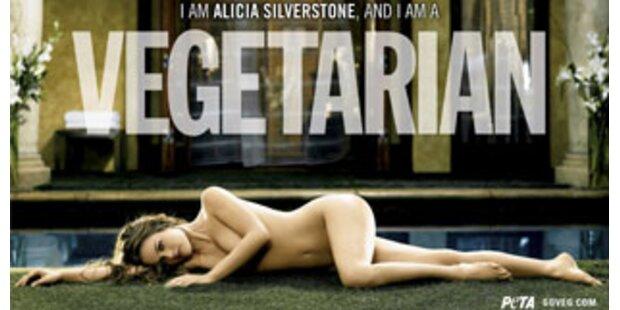 Alicia Silverstone splitternackt für Tiere