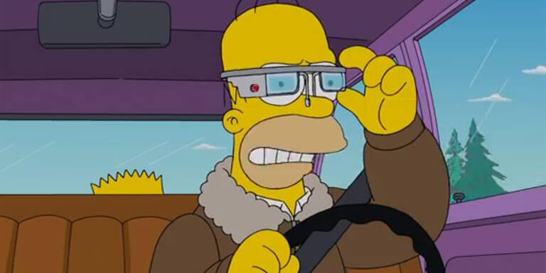 Simpsons ziehen über Google-Brille her