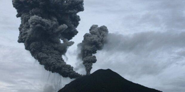 Heftiger Vulkan-Ausbruch auf Indonesien