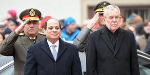Van der bellen empfängt Präsident Sisi