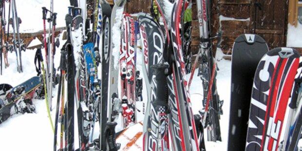 Ski gestohlen: Mit Alk-Fahne zur Polizei