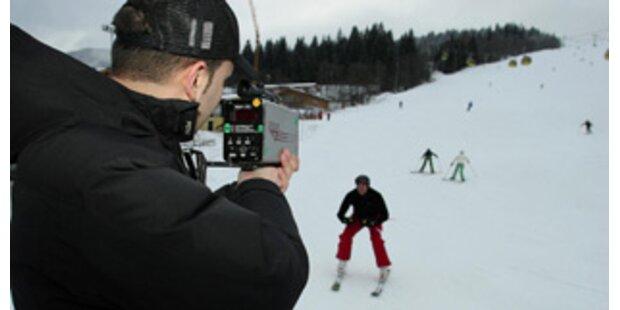 Jeder fünfte Skifahrer ist zu schnell