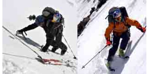 Tiroler fuhren weltlängste Skiabfahrt als Erste