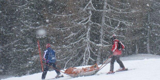 Schwere Skiunfälle in Vorarlberg