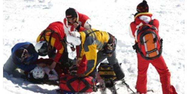 Zwei Schwerverletzte bei Skiunfällen