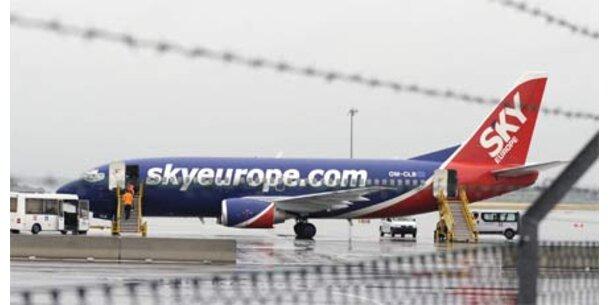 SkyEurope-Passagiere saßen in Wien fest