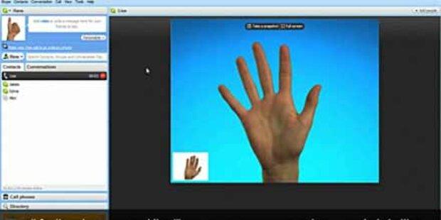 Skype 5: Videokonferenz mit  10 Personen