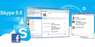 Skype jetzt mit voller Facebook-Integration