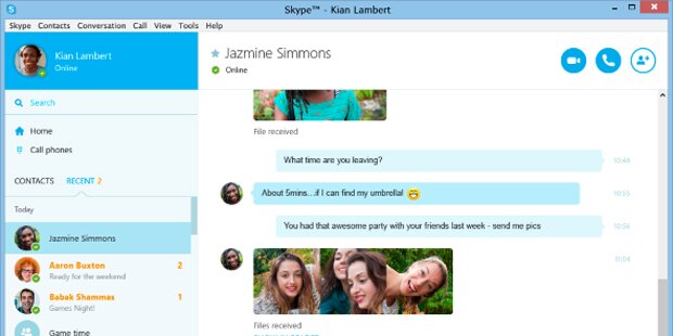 Skype-Version für Internetbrowser