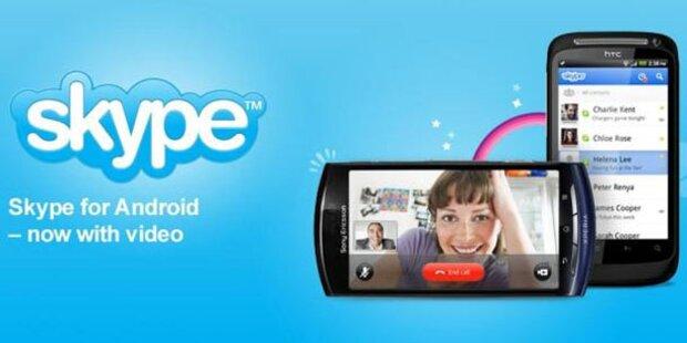 Skype 2.1-App für Android-Smartphones