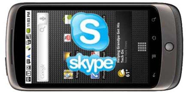 Skype-App für Android-Handys gestartet