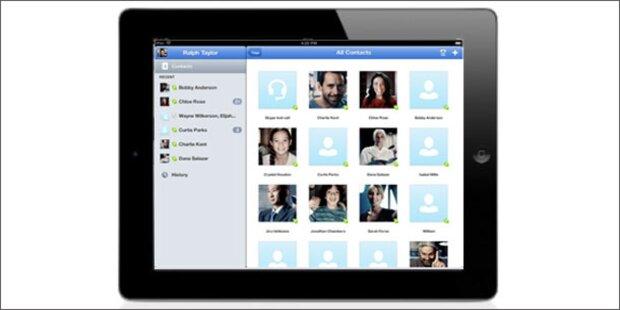 Die Skype-App für das iPad ist da