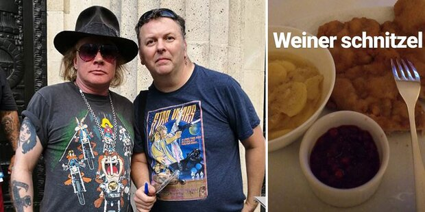 Guns N' Roses: Schnitzel und Autogramme