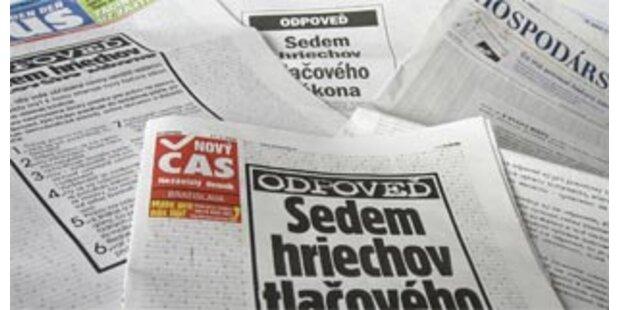 Protest gegen Pressegesetz in der Slowakei